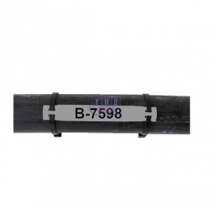 Etiquette non adhésive grise B-7598 79 x 20 mm (BBP11/12)