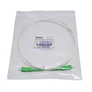 Jarretière simplex monomode G657A2 1,6 mm blanche SC/APC-SC/APC