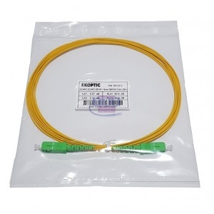 Jarretière simplex monomode G657A2 1,6 mm jaune SC/APC-SC/APC