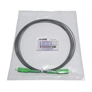 Jarretière simplex monomode G657A2 1,6 mm grise SC/APC-SC/APC