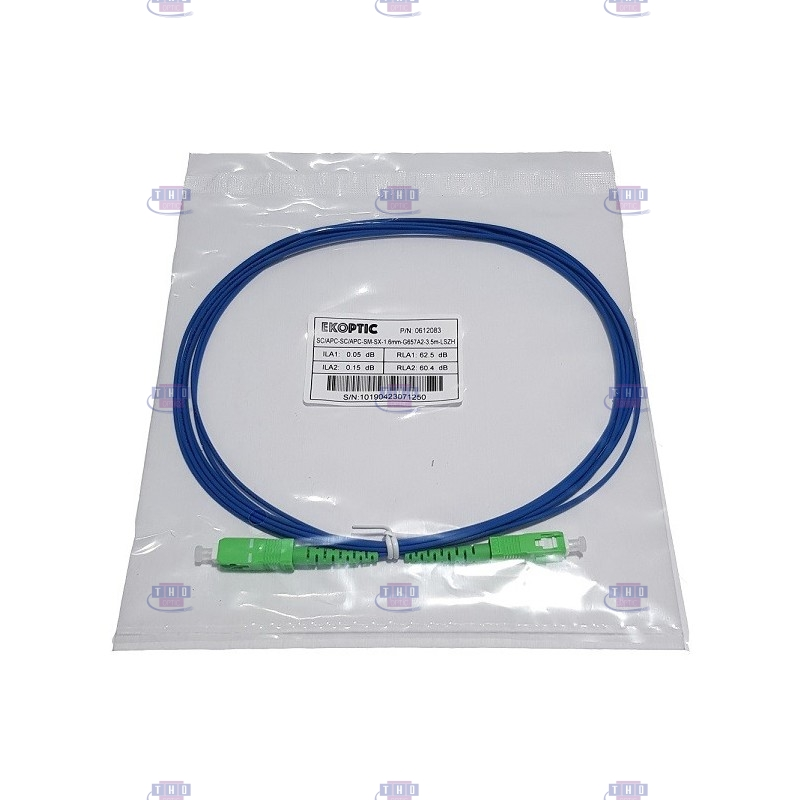 Jarretière simplex monomode G657A2 1,6 mm bleue SC/APC-SC/APC