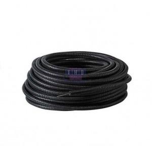 Palette de gaines fendues noires en PVC