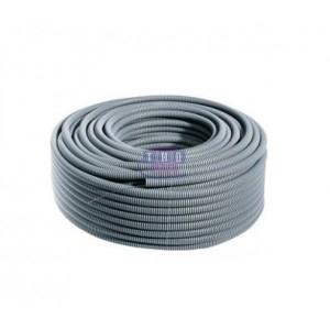 Palette de gaines fendues grises en PVC