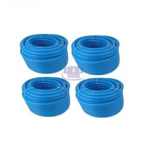 Palette de gaines fendues bleues en PVC