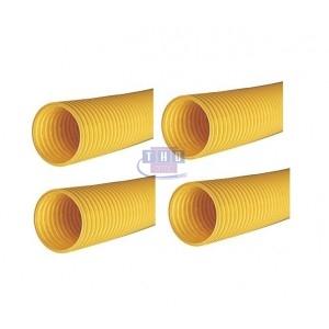 Palette de gaines fendues jaunes en PVC