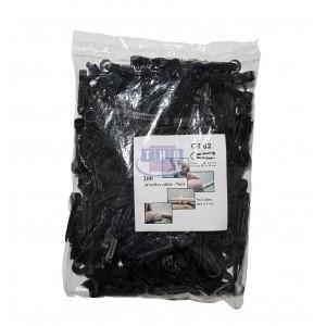 Sachet de 200 pontets chevilles noirs pour câbles Ø 8-9 mm