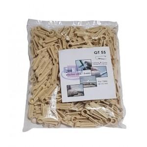 Sachet de 200 pontets chevilles ivoires pour câbles Ø 5-6 mm