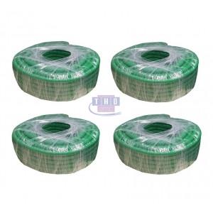 Palette de gaines fendues vertes en PVC