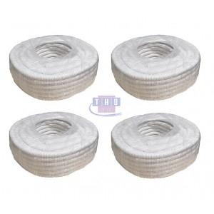 Palette de gaines fendues blanches en PVC