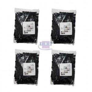 Carton de 55 sachets de 200 pontets chevilles noirs pour câbles Ø 5-6 mm