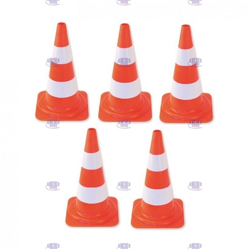 Lot de 5 cônes de signalisation 50 cm