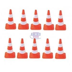 Lot de 10 cônes de signalisation 50 cm