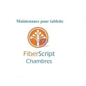Abonnement de maintenance FiberScript Chambres sur tablette