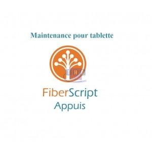 Abonnement de maintenance FiberScript Appuis sur tablette