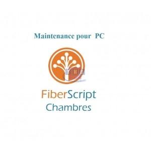 Abonnement de maintenance FiberScript Chambres sur PC