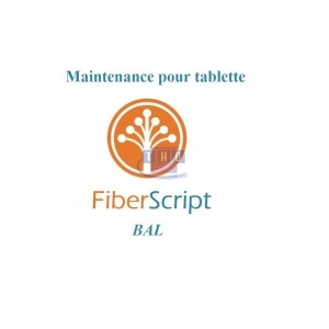 Abonnement de maintenance FiberScript BAL sur tablette