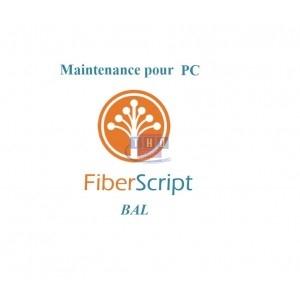 Abonnement de maintenance FiberScript BAL sur PC
