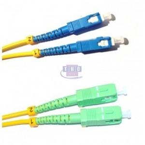 Jarretière duplex  G652D OS2 jaune SC/APC-SC/UPC