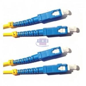 Jarretière duplex G652D OS2 jaune SC/UPC-SC/UPC