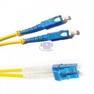 Jarretière duplex  G652D OS2 jaune LC/UPC-SC/UPC