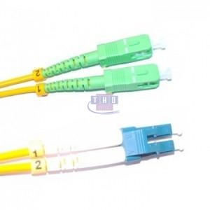 Jarretière duplex  G652D OS2 jaune LC/UPC-SC/APC