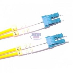 Jarretière duplex  G652D OS2 jaune LC/UPC-LC/UPC