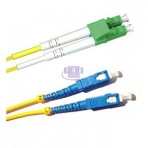 Jarretière duplex  G652D OS2 2 mm jaune LC/APC-SC/UPC