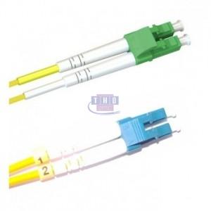 Jarretière duplex  G652D OS2 jaune 2 mm LC/APC-LC/UPC