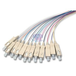 Lot de 12 Pigtails colorés multimode OM3 SC/PC