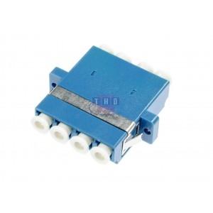 Raccord quadplex monomode bleu LC/UPC