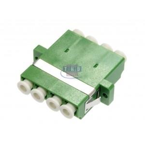 Raccord quadplex monomode vert LC/APC