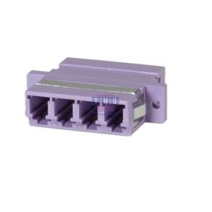 Raccord quadplex multimode violet LC/PC