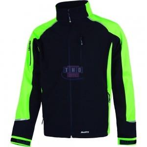Veste Soft Shell Noire et verte
