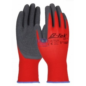 Lot de 12 gants de manutentions rouges