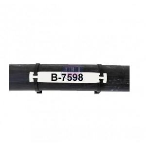 Etiquette B-7598 blanche 100 x 12 mm